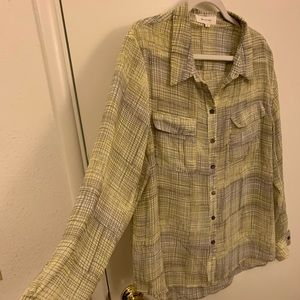 Two by Vince Camuto button down shirt size XL